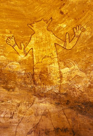 Tassili N'Ajjer rock drawing