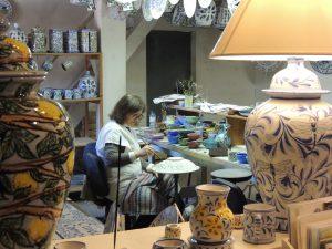 hand painted ceramic