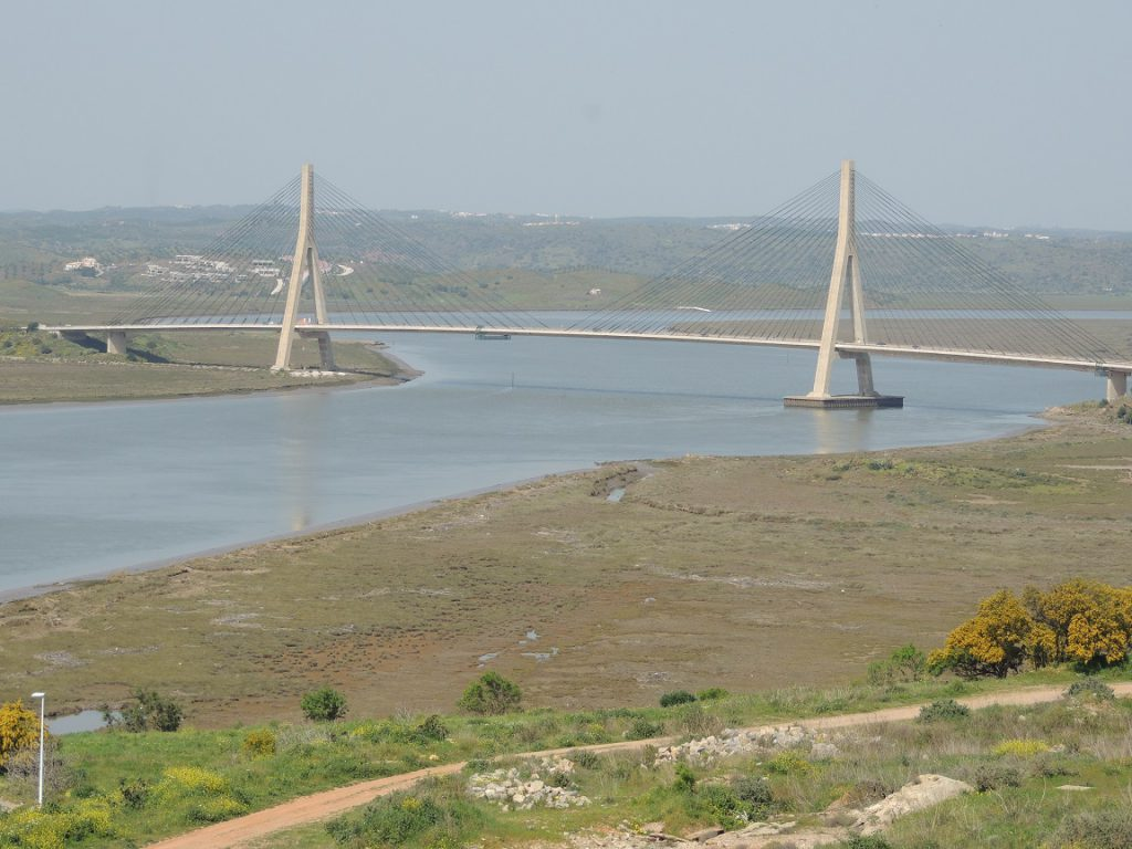 The bridge connecting Spain with Portugal