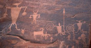 Photo of Sid Utah rock drawings