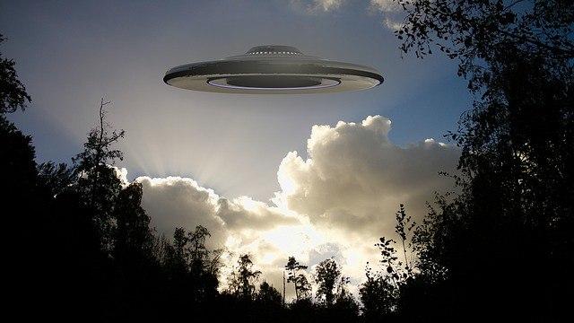 UFO in the sky