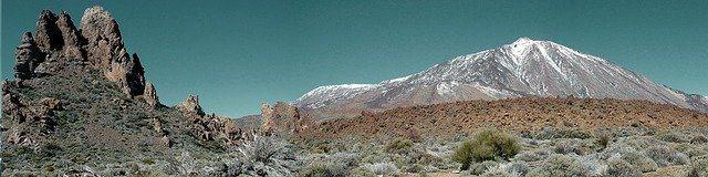 Panoramic view of Teide Mountain