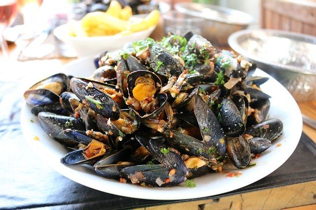 A tasty dish of Mussels