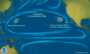 Garbage patches in the seas