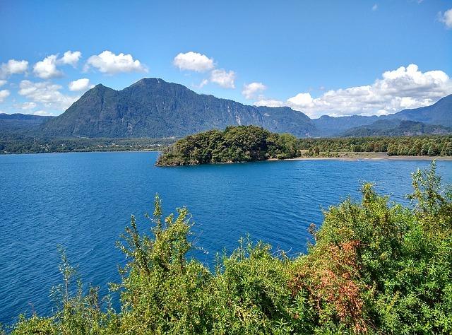 Calafquen lake in Chile