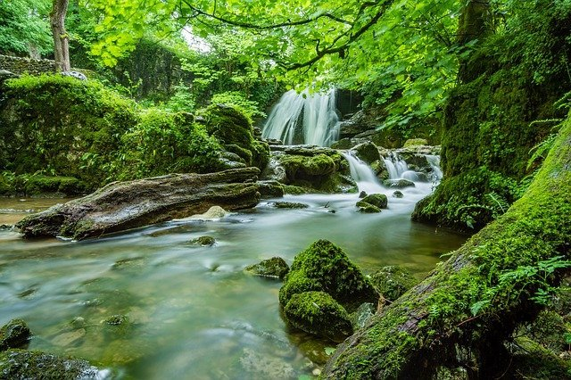 Janets Foss cascade in England