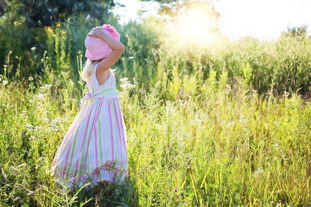 Little girl enjoying nature
