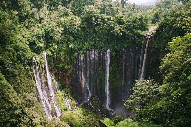 Waterfall Tumpaksewu in Java/Indonesia