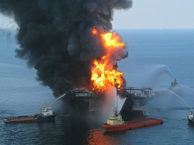 Oil-rig explosion