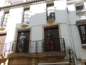 A balcony on the main shopping street