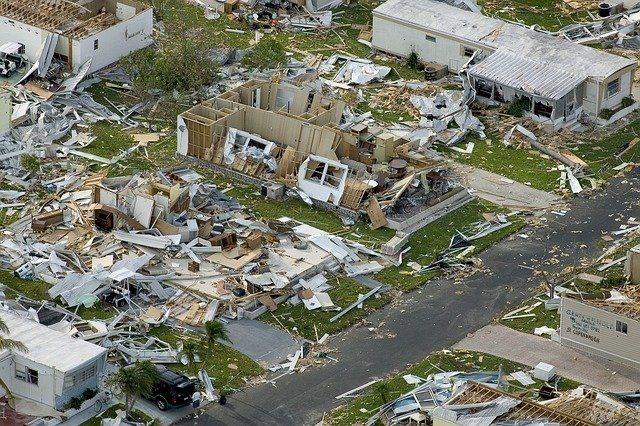 The devastating effect of a hurricane