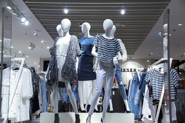 Display window with fashion