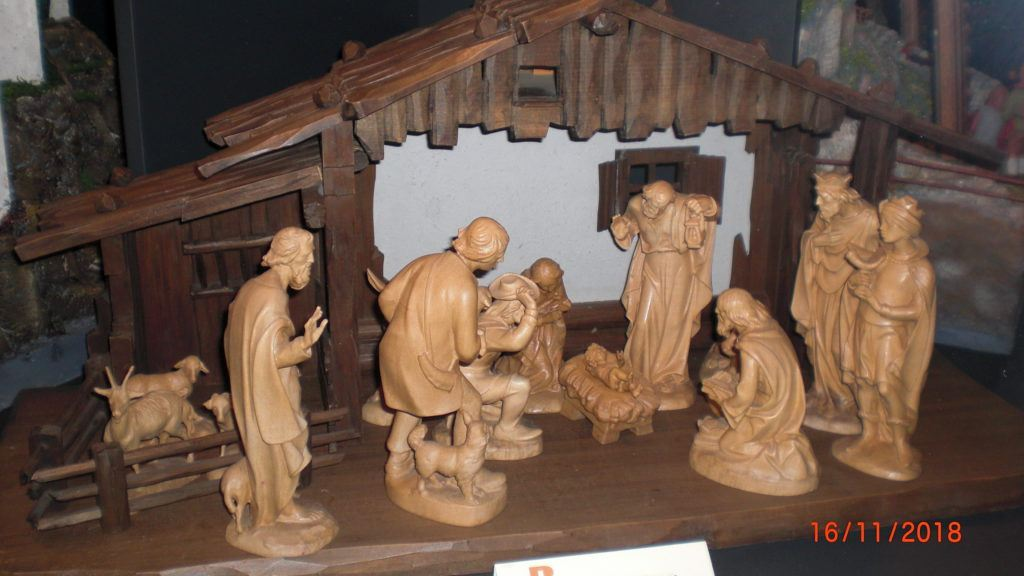 wood carved nativity scene