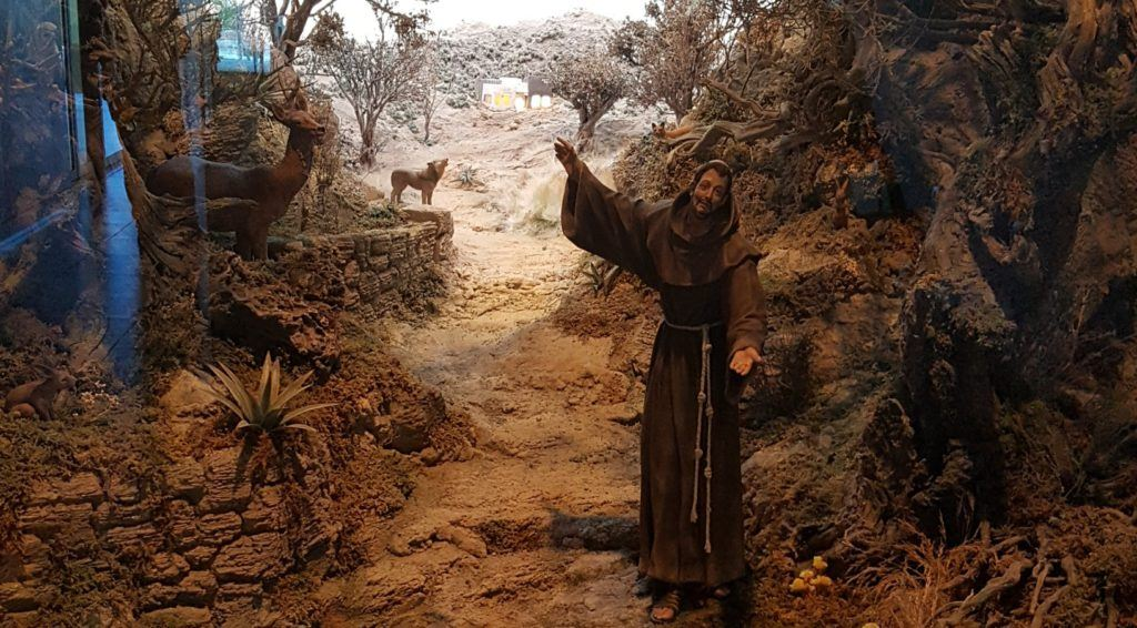 St Francis welcoming the visitors