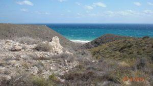 looking down at playa de los muertos