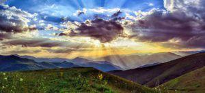 zonsondergang in onze mooie wereld