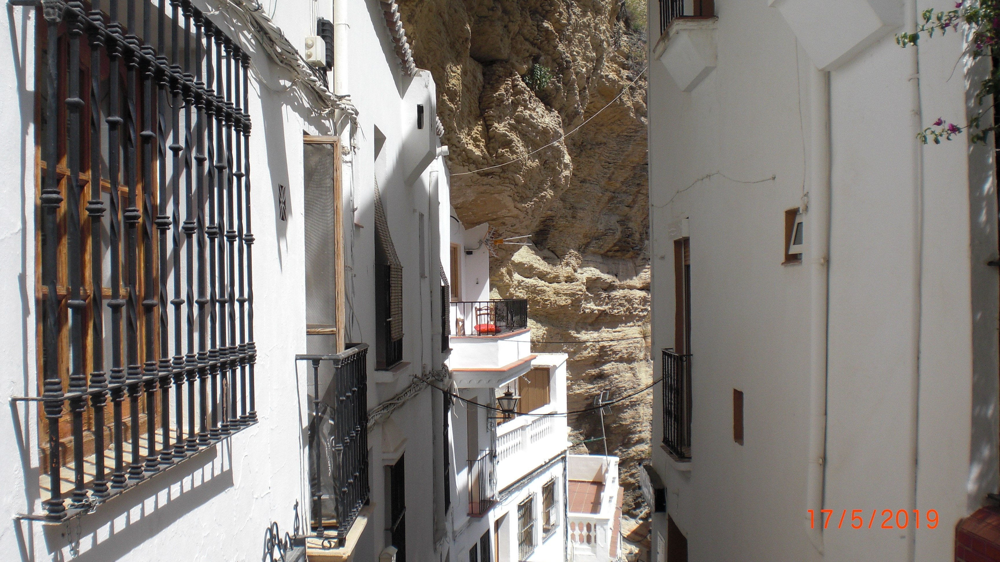 Very narrow and steep passage