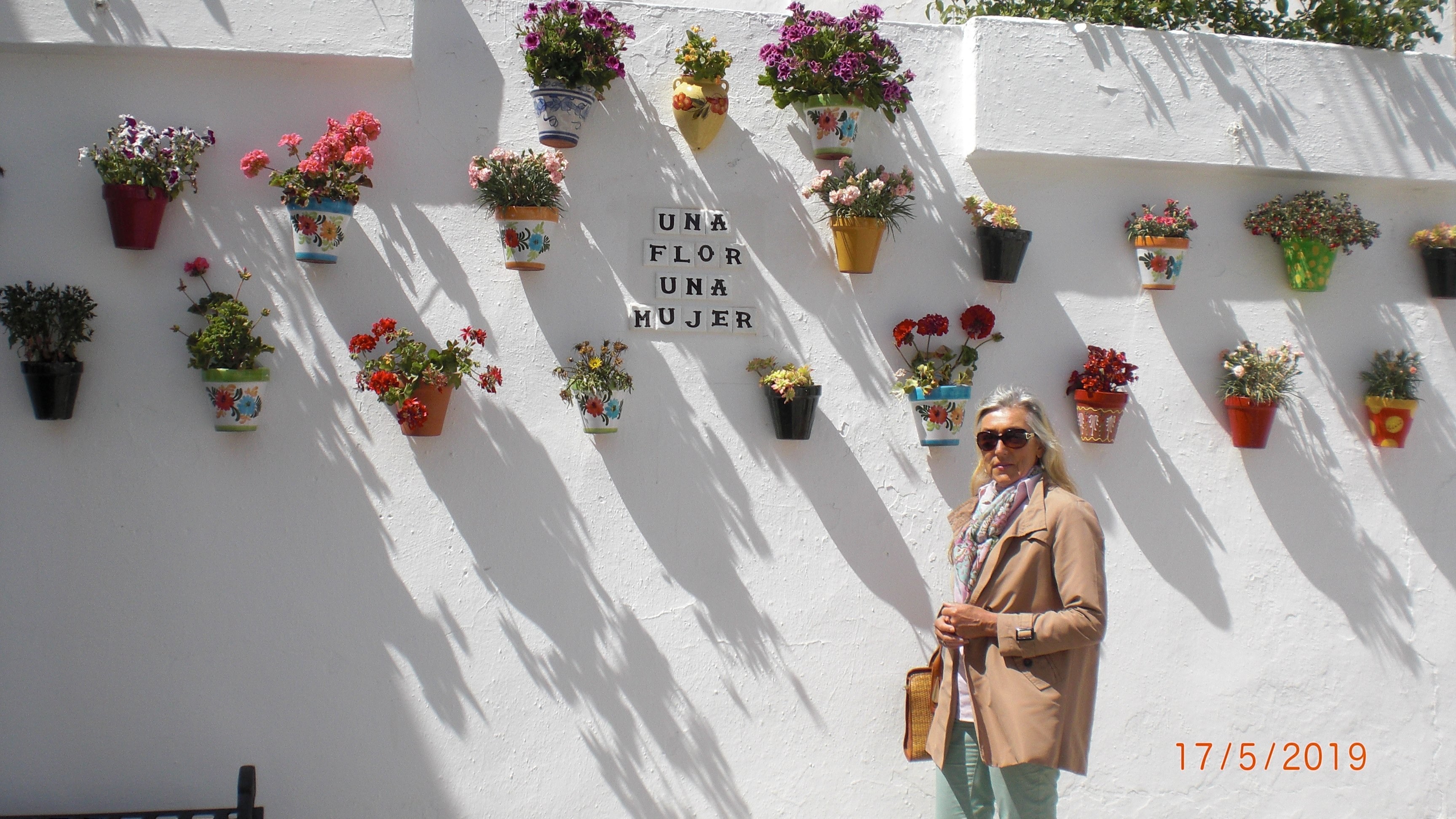 Typical Andalusian flower pots