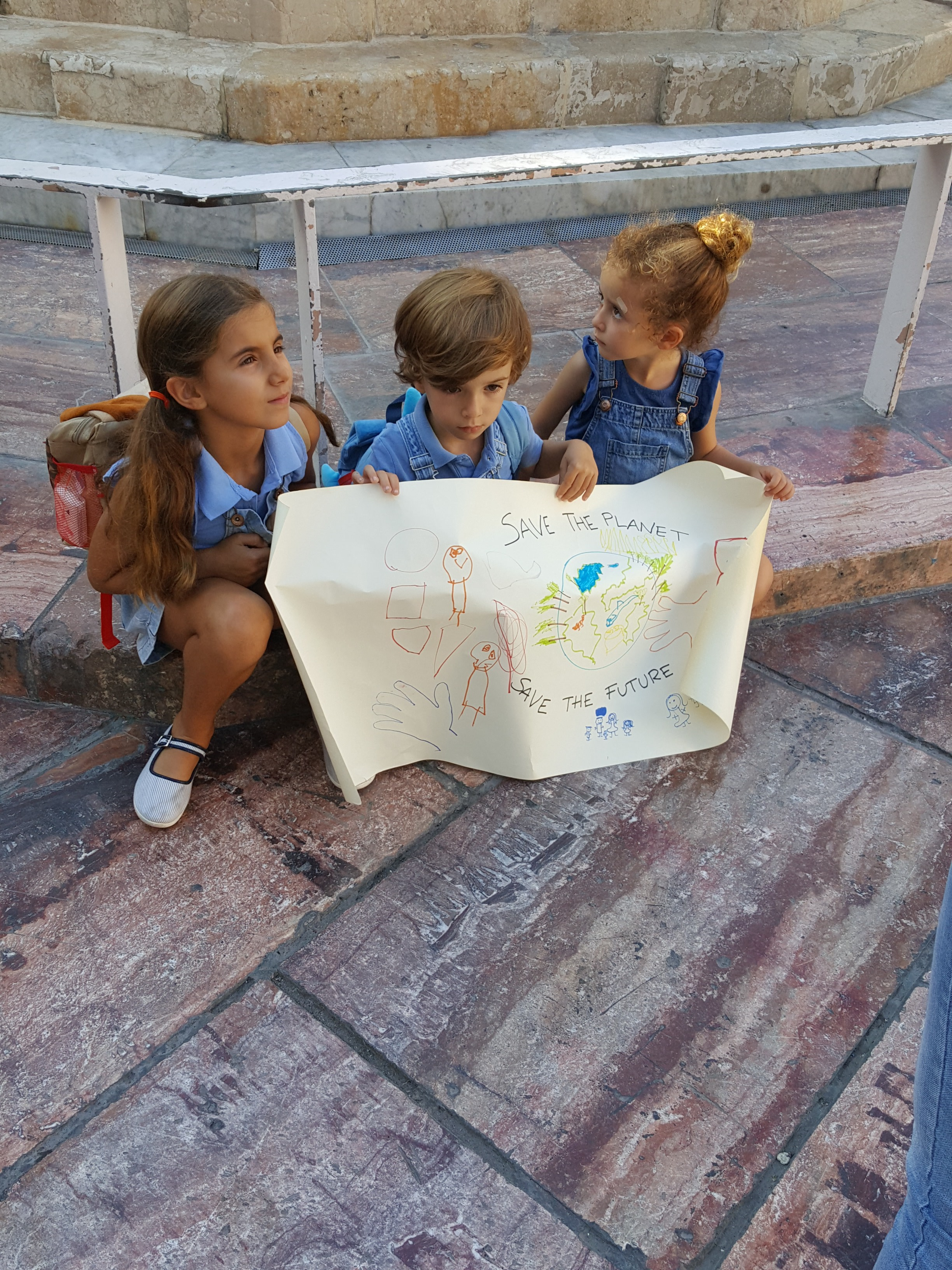 Little Children participating in the Strike