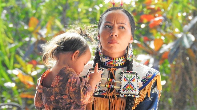 Native American mother and child from Florida
