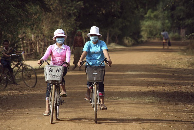 Cycling with masks