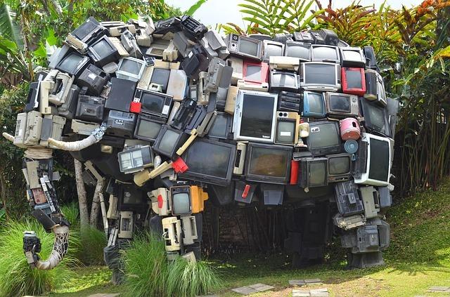 TV elephant sculpture