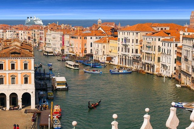 Venice with cruiseship in the background