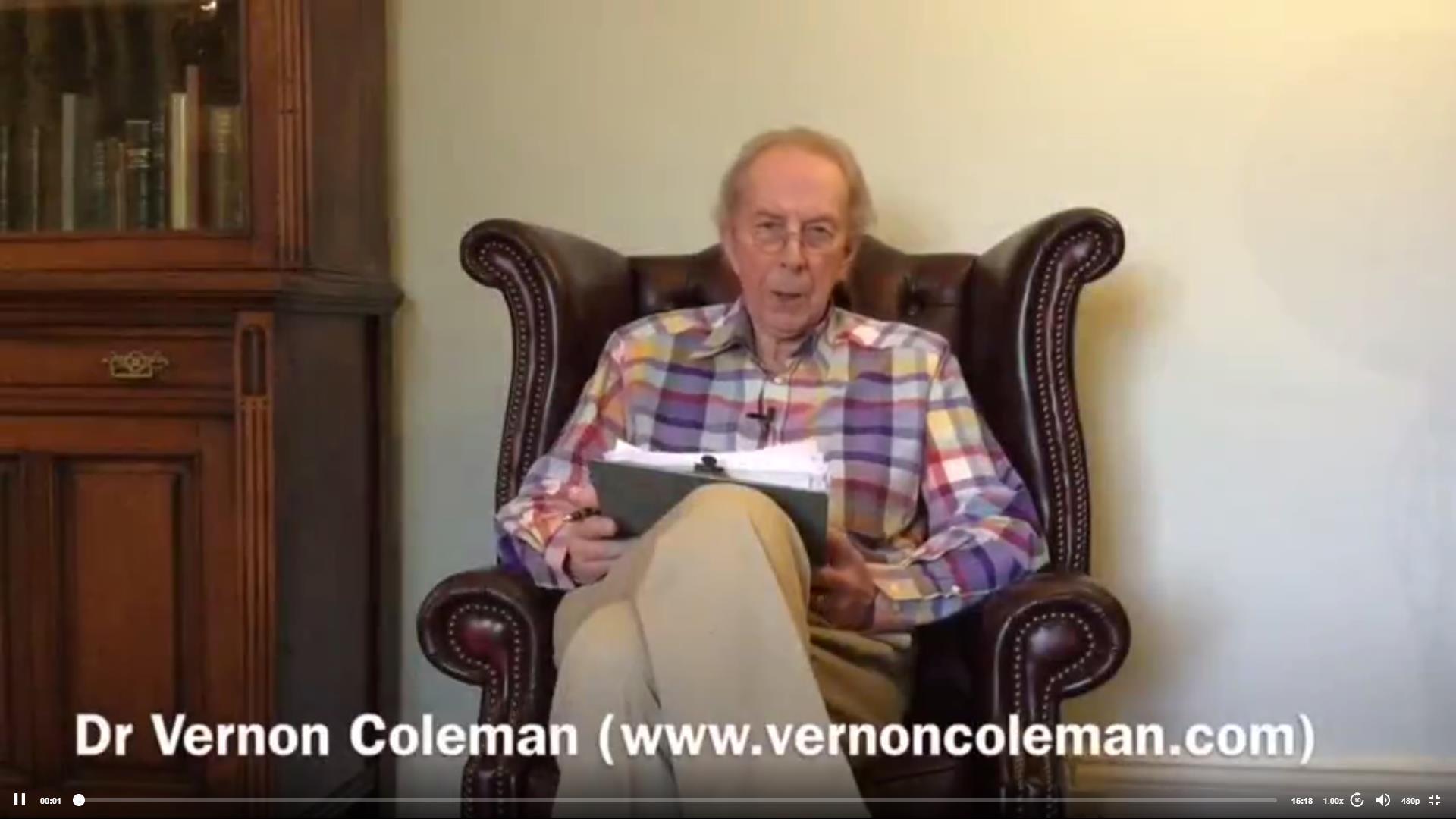 Dr Vernon Coleman MB ChB DSc FRSA
